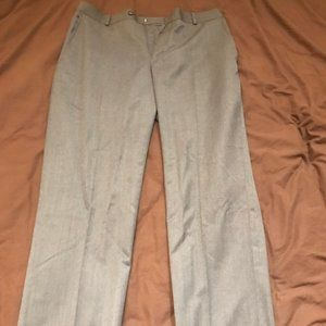 Stafford Travel Slim-Fit Suit Pants Medium Gray